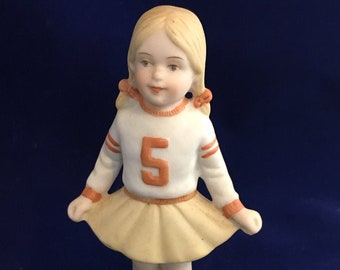 Football Player Cheerleader Decorations New Paper Doll Gift Brunettes