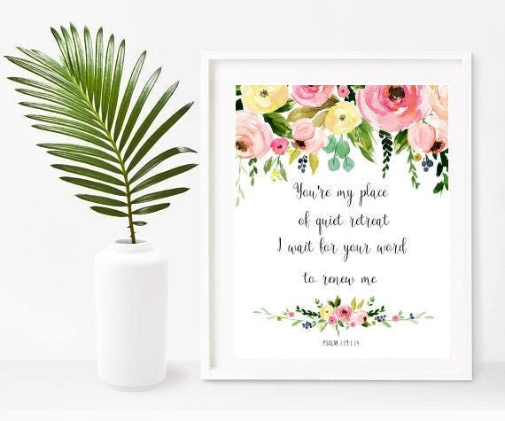 Bible Quote Print, You're My Place, Psalm 119 114, Printable Art, Bible  Verse Print, Scripture Quote, Home Decor, Wall Decor