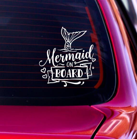Baby Mermaid On Board Vinyl Decal Sticker