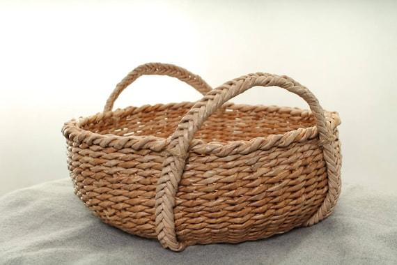 Baskets Storage Gift Basket Storage Basket Home Decor Small Easter Basket Rustic Home Decor Rustic Basket Craft Basket Single Basket