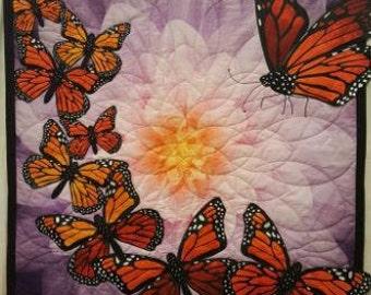 Majestic Monarchs Machine Embroidered Applique