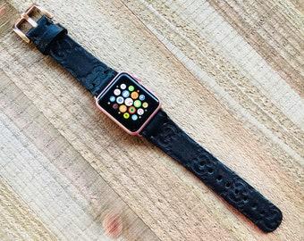 c296551b3c7 GUCCI Black Apple Watch Band Series 1 2 3 4