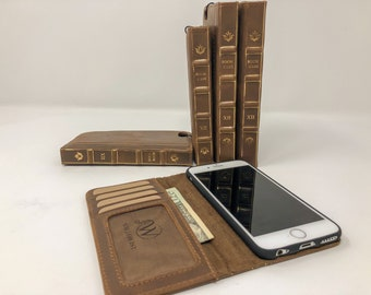 iPhone Wallet, Leather iPhone Case, iPhone 12 Pro Max, iPhone 12 Pro, iPhone 12, iPhone 12 mini, iPhone 11 Pro Max, 11 Pro, 11   Book Case  