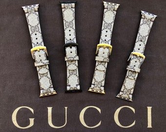 GUCCI Apple Watch Band Series 1 2 3 , 42mm, 38mm, Gold,Rose Gold, Silver, Black, GC Watch band