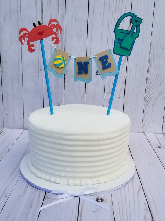 Beach Party Cake Topper Crab Assembled