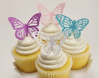 Butterfly Party Cupcake Toppers/Girls Birthday Cupcake Toppers/Butterfly Cupcake Toppers/Butterfly Birthday Party/Butterfly Party Decor