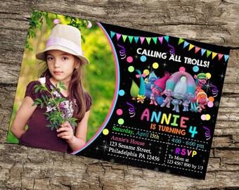 Trolls Invitation,Trolls Birthday,Trolls Birthday Invitation,Trolls Party,Trolls Printable,Trolls Invitation Download