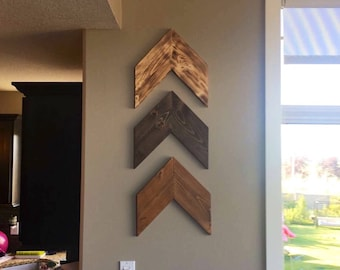 Chevron Arrows (Sold Individually) Nursery, Rustic Modern Farmhouse, Wood Decor, Boho Shabby Chic Wall Art Hanging, Reclaimed Woodland Decor
