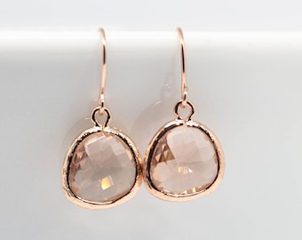 Earrings Rosegold Peach Apricot