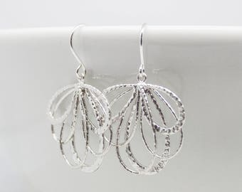 Earrings Silver Petals