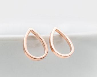 Earrings Rosegold Drops Teardrop Earrings