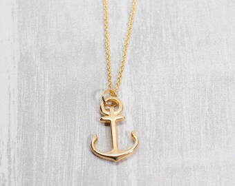 Chain Gold plated Anchor