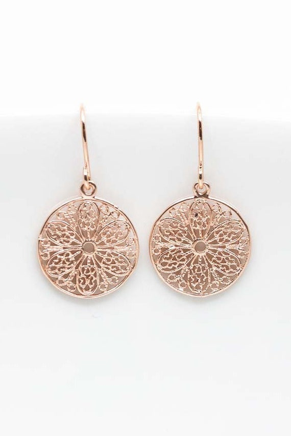 Ohrringe Rosegold Boho Ornamente