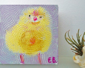 Adopt-a-chick no. 1 acrylic painting