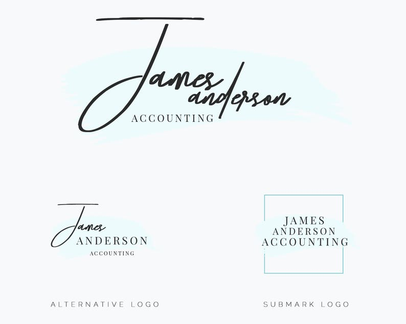 business logo | custom logo design | watercolor logo | instant download |  logo | photography logo | creative logo | logo design service