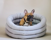 Cloud Dog Bed - Gray Washable Pet House - Handmade Dog Bed - Scandinavian Home Decor - Small Medium Large Bed for Dog or Cat