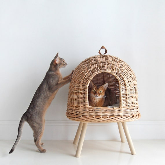 Pleasing Vine Cat Bed House For Cats Wicker House For Pets Pet House Eco Handmade Bed For Cats Natural Bed For Abyssinian Customarchery Wood Chair Design Ideas Customarcherynet