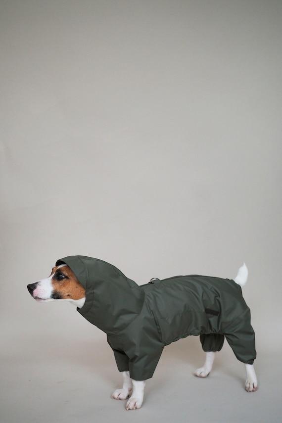 Hund Frühling Overalls Hunde Khaki Für Hundebekleidung Hundejacke Wasserdicht Regenmantel W9YD2EHI