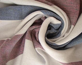 Beach Towel, Fuchsia Hand-loomed Towel, Peshtemal Towel, Blue Peshtemal, Striped Towel, Top Quality handmade Turkish Beach Towel, Bath Towel