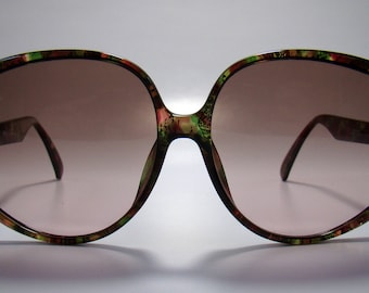 Christian Dior 2320 vintage translucent mosaic effect cello sunglasses, New Old Stock 1980s, Vintage Sunglasses. NOS 1980s