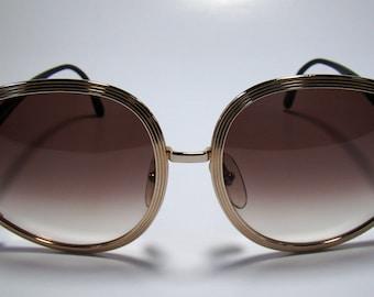 Vintage 80s Christian Dior Sunglasses glasses 2475 GOLD metal FRAME- Austria, New Old Stock 1980s, Vintage Sunglasses. NOS 1980s