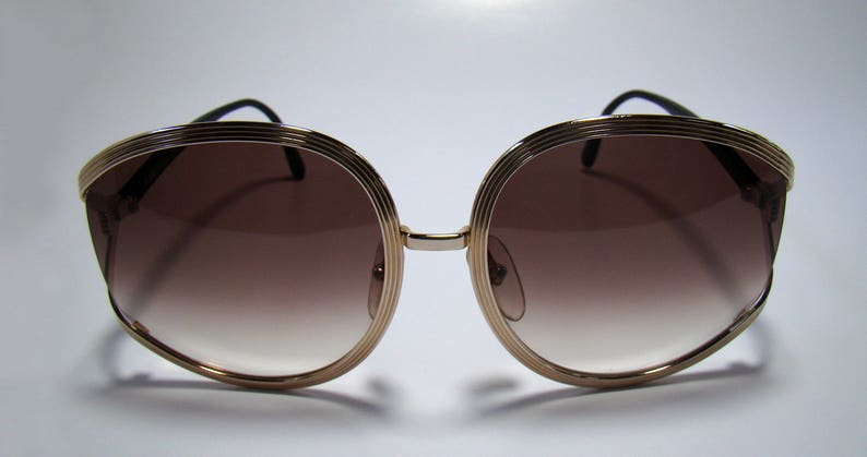 0e627e2168 Vintage 80s Christian Dior Sunglasses glasses 2475 GOLD metal