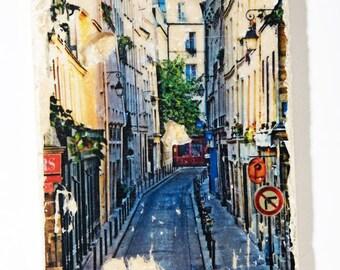 T067 Handmade Travertine Tile - Latin Quarter in Paris