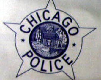Tee Chicago Police Star  left chest choose White,Gray,Blue and size needed