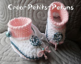 Lollipop lollipop crochet 100% original baby booties