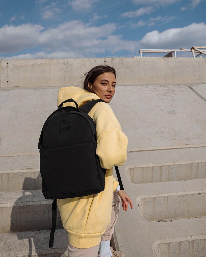 backpack for trip weekend backpack backpack for walking everyday backpack Backpack Canvas Black