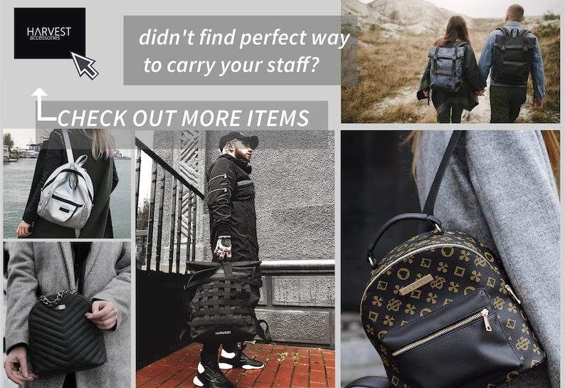 Camera Backpack Backpack Roll Top Canvas Travel Rucksack Convertible Light Rucksack  HARVEST Large Travel Bag Unisex Vegan Backpack