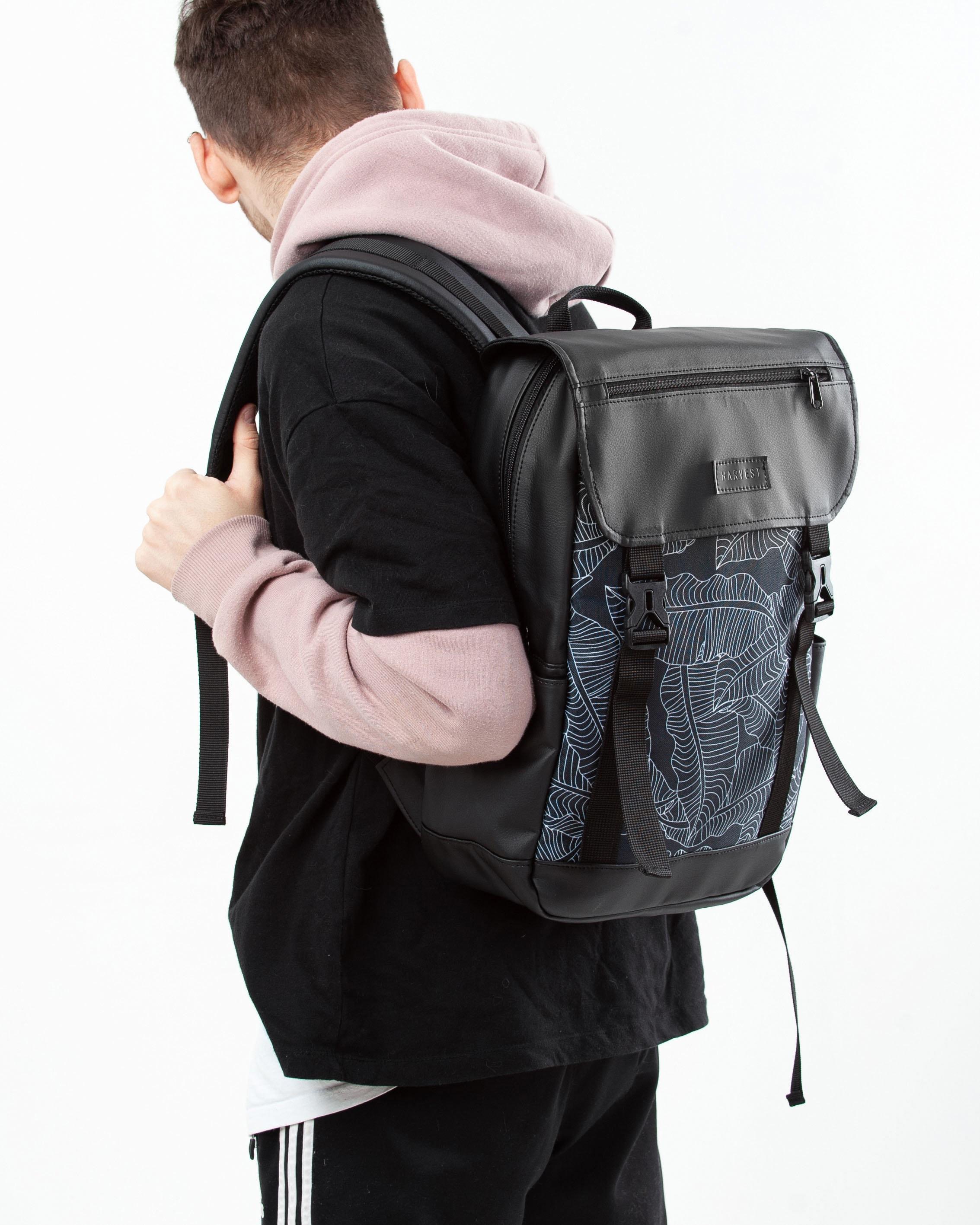 Roll top Travel Rucksack Laptop Women Rucksack Waxed backpack  9ecfdd61f5f8d