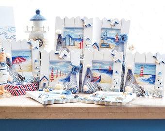 Seascape cross stitch kit, modern cross stitch