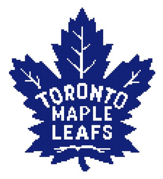 Toronto Maple Leafs Cross Stitch Pattern Nhl Cross Stitch Etsy