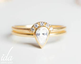 Pear Shaped Engagement Ring Etsy