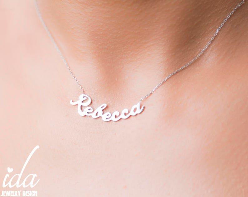 f20ac8df4c02 Nombre personalizado collar mujeres plata personalizada