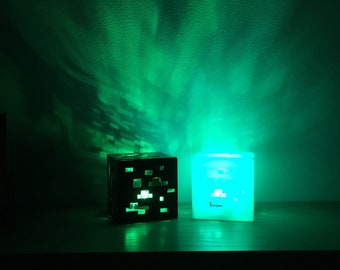 Minecraft Inspiriert Lampe Moderne Tischlampe 7cm Etsy