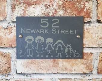 house number plaque etsy