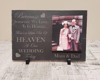 Wedding, in memory of someone in heaven, remembrance slate,memorial, wedding decor.