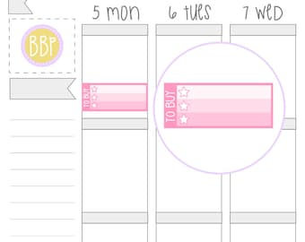 Multicolour To Buy Checklists | Planner Stickers | 037
