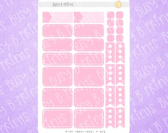 Pink Functional Planner Stickers | Planner Stickers | 016