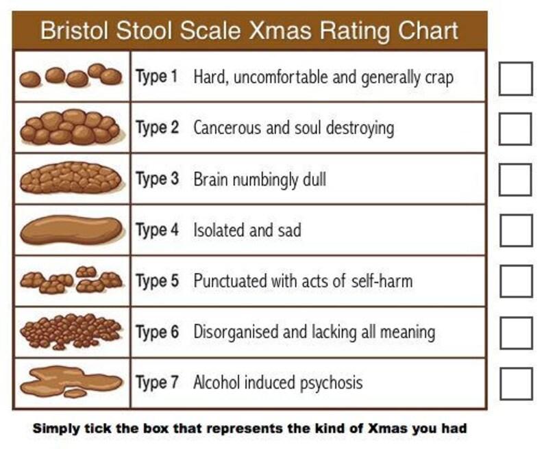 Bristol Stool Scale Xmas Card A6, Humorous Xmas Card, Inappropriate Xmas  Card, Banter, Illustration, Adult Humour, Shit Xmas