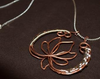 Copper Lotus Flower Necklace
