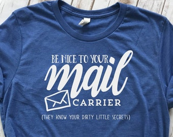 5b1ae2387 Mail Carrier Tee | Post Office | Mail Man | Mail Women | Funny Tees | Gift  For Mail Carrier | Humor | USPS