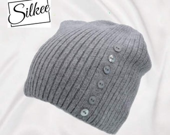 ce22e63eb92 Silkee 100% Lined Cashmere blend Beanie Hat