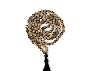 Matte Jasper * The Earth Mala * Hand knotted * 108 meditation Mala beads * Crystal Prayer Beads