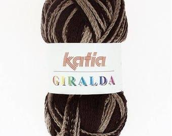 WOOL KATIA GIRALDA 100GR BROWN / TAUPE-54