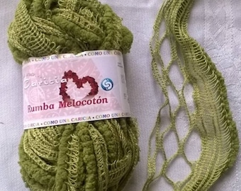 wool rustle CARICIA RUMBA MELOCOTON gradient green 25 grams 5 m 37
