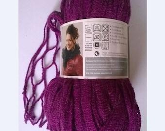 new wool rustle SMC NETWORK 100gr fuschia 036