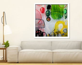 Large abstract prints,ready to frame. Original abstract painting on canvas,  Title 'FIELDS' by Sarah Evans